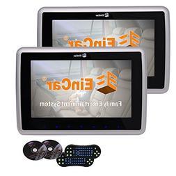 Twin Screens Universal Car Headrest Monitors Support CD DVD
