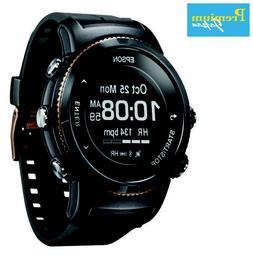 EPSON U-350BS Wristable GPS Digital Watch Black Sapphire Jap