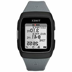 Timex Unisex TW5M11800 Ironman GPS Black/Gray Silicone Strap