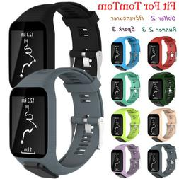 US Sport Silicone Watch Wrist Band Strap Bracelet For TomTom