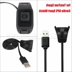 USB Charging Stand Dock Charger For TomTom Spark Cardio GPS