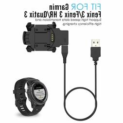 USB Data & Charger Station Dock For Garmin Fenix 3 HR Quatix