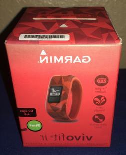 Garmin Vivofit Jr. Activity Tracker Broken Lava Brand New