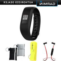 Garmin Vivofit Tracker Fitness Band Regular Fit  Black w/ Po