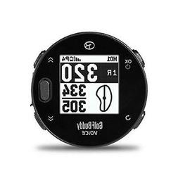 GolfBuddy Voicex Easy-to-Use Smart Talking Golf GPS, Black,
