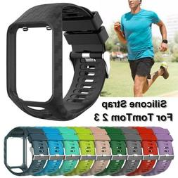 Watch Band Silicone Replacement For TomTom Runner 2 3 Spark