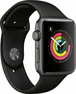 Apple Watch Gen 3 Series 3 42mm Space Gray Aluminum - Black