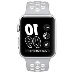 Apple Watch Nike+ 38mm Silver Aluminum Case Flat Silver/Whit