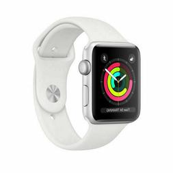 NEW Apple Watch Series 3 GPS 38MM Silver Aluminum Case White