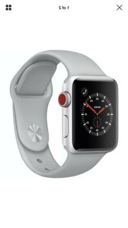 Apple Watch Series 3 38mm GPS + Cellular, Silver Aluminum Ca