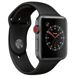 Apple Watch Series 3 42mm Aluminum Space Gray with Black Spo