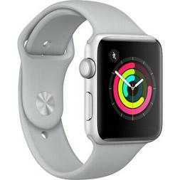 Apple Watch Series 3 42mm  Silver Aluminum Case with Fog Spo
