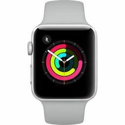 Apple Watch Series 3 - 42mm Silver Aluminium Case with White