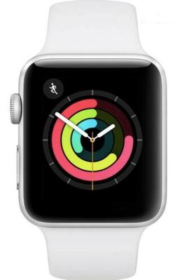 Apple Watch Series 3  Silver Aluminium Case with White Sport