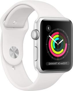 Apple Watch Series 3  - Silver Aluminium Case with White Spo