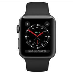Apple Watch Series 3  42mm Space Gray Aluminum Case with Bla