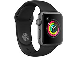 Apple Watch Series 3  38mm Space Gray Aluminum Case with Gra