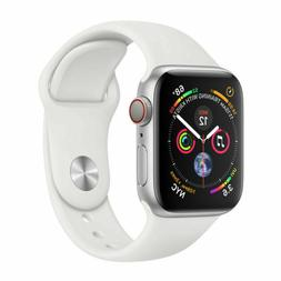 Apple Watch Series 4 44 mm Silver Aluminum Case with White S