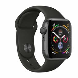 Apple Watch Series 4 40 mm Space Gray Aluminum Case with Bla