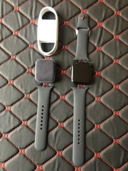 Apple Watch Series 4 44mm Space Gray Aluminum Case with Blac