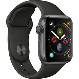 Apple Watch Series 4 GPS 44mm Space Gray Case with Black Spo