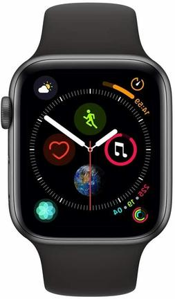 Apple Watch Series 4  Space Gray Aluminium Case with Black S