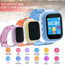 Waterproof Anti-lost GPS Kids Smart Watch Clock SOS Call Loc