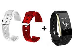 Waterproof Fitness Tracker with Extra Band - Step Tracker, P