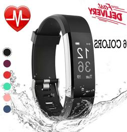 Waterproof Fitness Watch with Heart Rate Monitor, 6 COLORS f