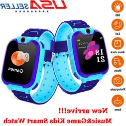 Waterproof GPS Smart Watch Kids Clock SOS Call SIM Card Game
