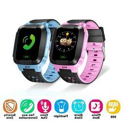 Waterproof GPS Tracker Kids Child Smart Watch Anti-lost SOS