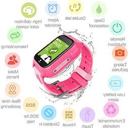Hangang Waterproof GPS Tracker Watch for Kids - IP67 Water-R