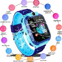 Waterproof Kids Smart Watch Anti-lost Safe GPS Tracker SOS C