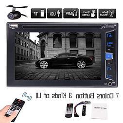 Windows CE Car Stereo In Dash 6.2 Inch Touch Screen Head Uni