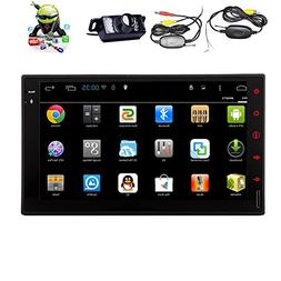 Wireless Camera + Android 4.4 In Dash Navigation GPS Head Un