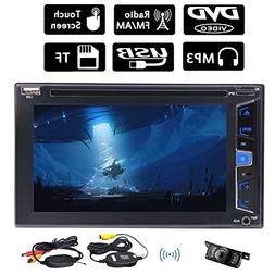 Wireless Rear Camera Included!Automotive 6.2 Inch Capacitive