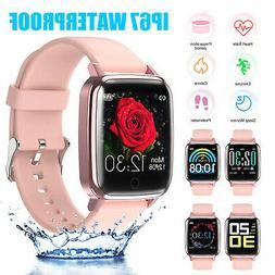 Women Bluetooth Smart Watch Fitness Tracker Heart Rate Brace