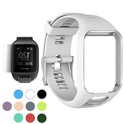TUSITA WristBand for TomTom Runner 2 3/Spark/Spark 3/Golfer