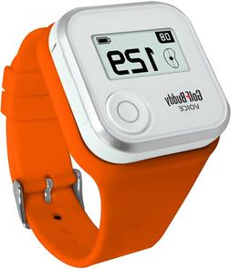 Wristband Gps Rangefinder Voice Small Orange Smooth Silicon