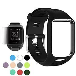 TUSITA Wristband Tomtom Runner 2 3/Spark/Spark 3/Golfer 2/Ad