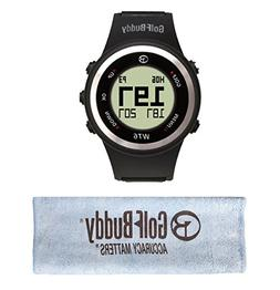 GolfBuddy WT6 Golf GPS Watch Black with Bonus Golf Buddy Mic