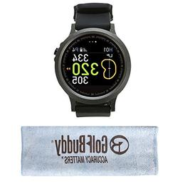 GolfBuddy WTX Smart Golf GPS Watch Black with Bonus Golf Bud